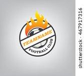 soccer logo emblem design... | Shutterstock .eps vector #467917316