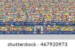 stadium crowd | Shutterstock .eps vector #467920973