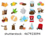 coffee theme set of icons.... | Shutterstock .eps vector #467923094