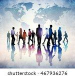 people walking. business vector ... | Shutterstock .eps vector #467936276