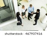 young business people standing... | Shutterstock . vector #467937416