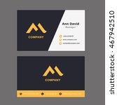 m letter logo with business card | Shutterstock .eps vector #467942510