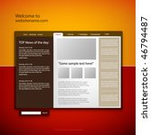 web site design template ... | Shutterstock .eps vector #46794487