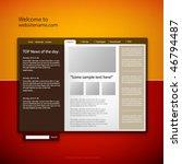 web site design template ... | Shutterstock .eps vector #46794487