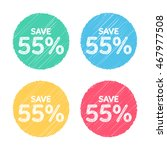 55  off. sale and discount... | Shutterstock .eps vector #467977508