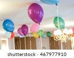 colorful balloons floating on... | Shutterstock . vector #467977910