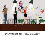 start up vector set. business... | Shutterstock .eps vector #467986394