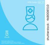 web line icon. doctor | Shutterstock .eps vector #468008510