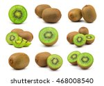 a set of perfect fresh green... | Shutterstock . vector #468008540