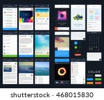 vector phone gui template....
