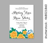 wedding invitation with wreath... | Shutterstock .eps vector #468021860