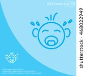 web line icon. crying baby | Shutterstock .eps vector #468022949