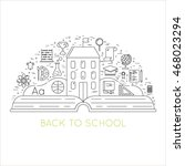 back to school   background... | Shutterstock .eps vector #468023294