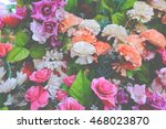 bunch of beautiful flowers... | Shutterstock . vector #468023870