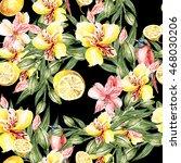 beautiful watercolor pattern... | Shutterstock . vector #468030206