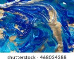 marbled blue abstract... | Shutterstock . vector #468034388