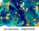 marbled blue abstract... | Shutterstock . vector #468034400
