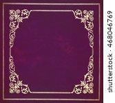 Dark Purple And Golden Leather...