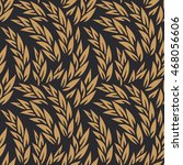 vector wheat black and gold... | Shutterstock .eps vector #468056606