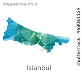 istanbul map in geometric... | Shutterstock .eps vector #468061139