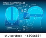 set of hud elements for virtual ... | Shutterstock .eps vector #468066854