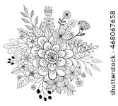 flower doodle vector  coloring... | Shutterstock .eps vector #468067658
