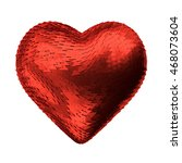 red heart valentine abstract 3d ... | Shutterstock . vector #468073604