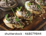 party food  creamy mushroom and ... | Shutterstock . vector #468079844
