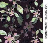 beautiful floral seamless... | Shutterstock . vector #468082154