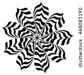 zebra striped flower | Shutterstock . vector #468085190