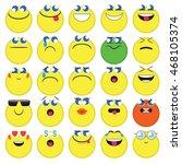 emoji. emoticons smile icon set.... | Shutterstock .eps vector #468105374