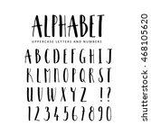 hand drawn vector alphabet....   Shutterstock .eps vector #468105620