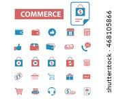 commerce icons | Shutterstock .eps vector #468105866