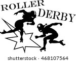 two roller derby players  eps 8 ... | Shutterstock .eps vector #468107564