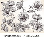 high detailed collection of... | Shutterstock .eps vector #468129656