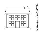 house home silhouette real... | Shutterstock .eps vector #468145796