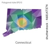 connecticut state map in...   Shutterstock .eps vector #468147374