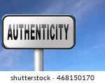 authentic quality guaranteed... | Shutterstock . vector #468150170
