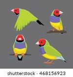 bird poses gouldian finch... | Shutterstock .eps vector #468156923