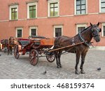 Two Horse Drawn Carriage In...