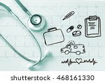 healthcare  insurance business... | Shutterstock . vector #468161330