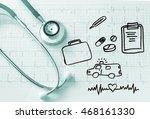 healthcare  insurance business... | Shutterstock . vector #468161330