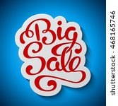 sale banner with handwritten... | Shutterstock . vector #468165746