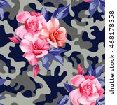 trendy camo military urban... | Shutterstock .eps vector #468178358