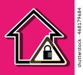 silhouette house security...   Shutterstock .eps vector #468179684