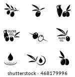 set of black isolated emblems... | Shutterstock .eps vector #468179996