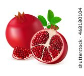 whole  half and segment... | Shutterstock .eps vector #468180104