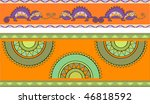 pattern with chameleons and...   Shutterstock .eps vector #46818592