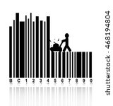 concept in barcode with people... | Shutterstock .eps vector #468194804