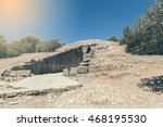 Small photo of Entrance to the treasury of Atreus, also known as tomb of Agamemnon, in Mycenae, Greece.